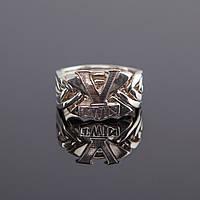 """Серебряное кольцо головоломка для мужчин """"V-Twin"""""""