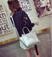 Серебристая сумка Котик с ушками