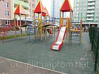 Резиновая плитка для детских площадок в жилом комплексе, фото 1