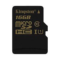 Карта памяти Kingston MicroSD 16GB Class 10 UHS-I (SDCA10/16GBSP)