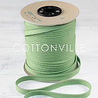 Кант хлопковый тускло-зеленый