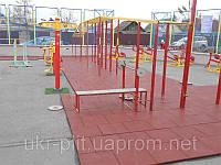 Травмобезопасная резиновая плитка на спортивные площадки