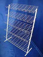 Стеллаж стойка метал Усиленная 1300/660мм на 5 полок для обуви,книг,постельного