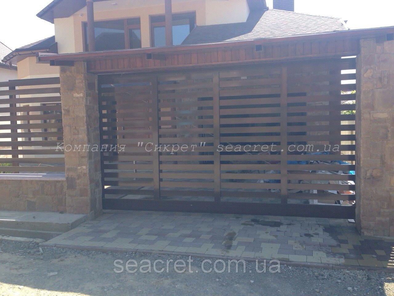 Откатные ворота Алютех (Alutech) серии ADS 400, Киев