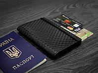 """Обложка для паспорта 2.0 """"Карбон"""" Графит. Ручная работа, фото 1"""