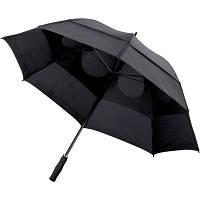 Зонт-трость, антишторм, черный  Ø130 x 100 cm