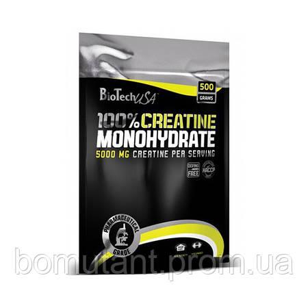 100% Creatine Monohydrate 500 гр пакет BioTech