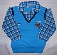 Рубашка-обманка на мальчиков, 134 - 146