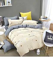 Полуторный комплект постельного белья сатин-фотопринт B-0085 Sn Bella Villa