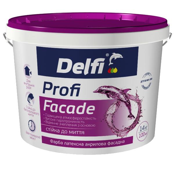 """Краска латексная акриловая фасадная Delfi """"Profi Facade"""", 4,2 кг"""