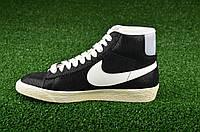 "Кроссовки Оригинал Nike Wmns Blazer Mid Suede Vintage ""Black"" (518171-009)"