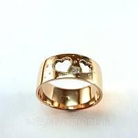 Кольцо со сквозными сердечками, декоративная обработка