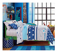 Полуторный комплект постельного белья сатин-фотопринт B-0073 Sn Bella Villa