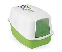 Туалет для кошек Бокс с фильтром Komoda зеленый