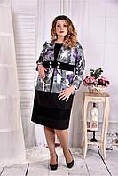 Жакет с черным гипюром 0577-3-1 (на платье 0577-3-2)