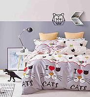 Полуторный комплект постельного белья сатин-фотопринт B-0075 Sn Bella Villa