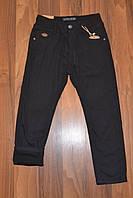УТЕПЛЁННЫЕ,Черные, Котоновые  брюки на флисе для мальчиков.Размеры 116-146 см.Фирма TAURUS.