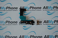 Шлейф для мобильного телефона Apple iPhone 5s коннектора зарядки / коннектора наушников с микрофоном белый