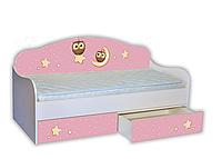 """Ліжко-диван """"Сови"""" рожевий"""