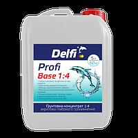 "Грунтовка-концентрат 1:4 акриловая глубокого проникновения Delfi ""Profi Base 1:4"", 5 л"