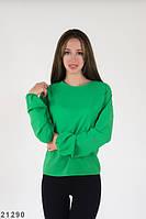 Жіноча зелена шифонова блузка Emma