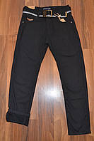 УТЕПЛЁННЫЕ,Черные, Котоновые  брюки на флисе для мальчиков подростков.ШКОЛА!Размеры 134-164 см.Фирма TAURUS.