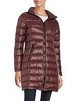 Женский оригинальный стильный бордовый пуховик с капюшоном  Calvin Klein  (пакуется в мешочек)