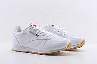 Женские белые кожаные кроссовки Reebok classic white, рибок классик белые