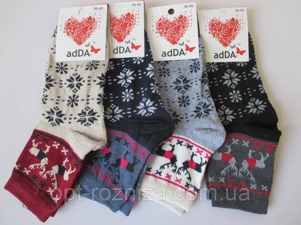 Теплые женские носки с рисунком