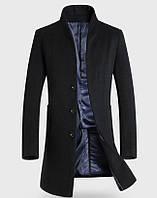 Мужское шерстяное весеннее пальто. Модель 6343, фото 3