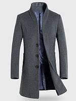 Мужское шерстяное весеннее пальто. Модель 6343, фото 6