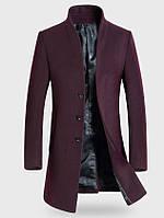 Мужское шерстяное весеннее пальто. Модель 6343, фото 7