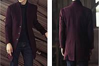 Мужское шерстяное весеннее пальто. Модель 6343, фото 8