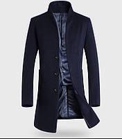 Мужское шерстяное зимнее пальто. Модель 6343