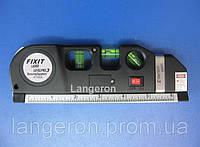Лазерный уровень вертикальный горизонтальный крест рулетка laser level pro 3