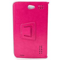Чехол книжка 7 дюймов Samsung универсальный для планшета (Розовый), фото 3