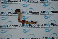 Шлейф коннектора зарядки и микрофона с компонентами для Apple iPhone 4G White