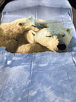 Чудесный плед из искусственной белые медведи