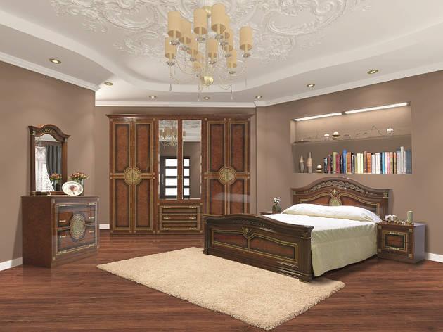Спальня в классическом стиле с художественной печатью Диана  6Д Світ меблів, цвет пино орех, фото 2