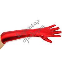 Перчатки атласные длинные (красные)