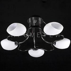 Люстра на 5 лампочек (черный).P3-1310/5C/BK+CR+MK
