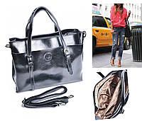 Женская большая сумка  f25589 Люкс , Натуральна кожа Черный