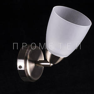 Бра спот (направляемая) на 1 лампочку (античная бронза). P3-01615/1W/AB+WT