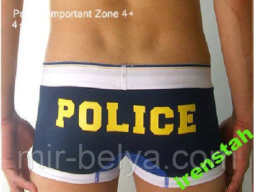 Трусы шорты заниженные брифы слипы POLICE