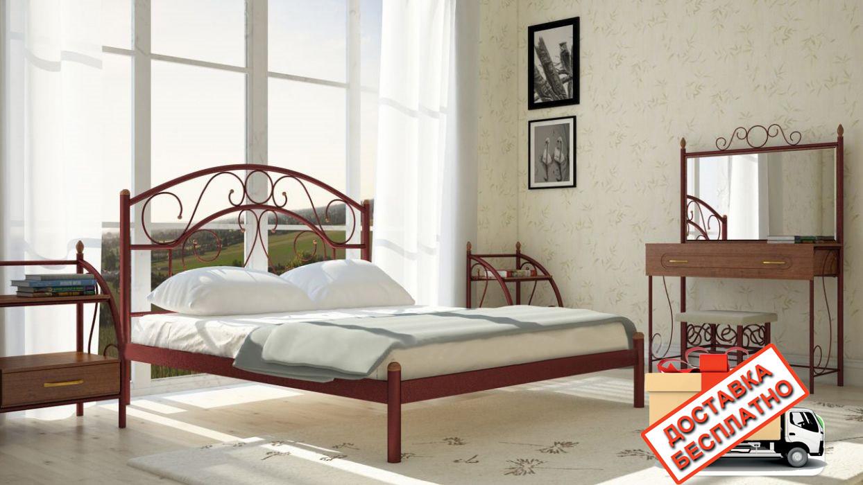 Кровать металлическая кованная Скарлет полуторная, фото 1