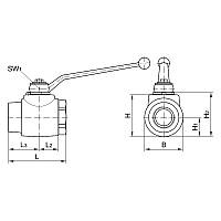 Шаровый кран блочный DN32, 35L М45 х 2