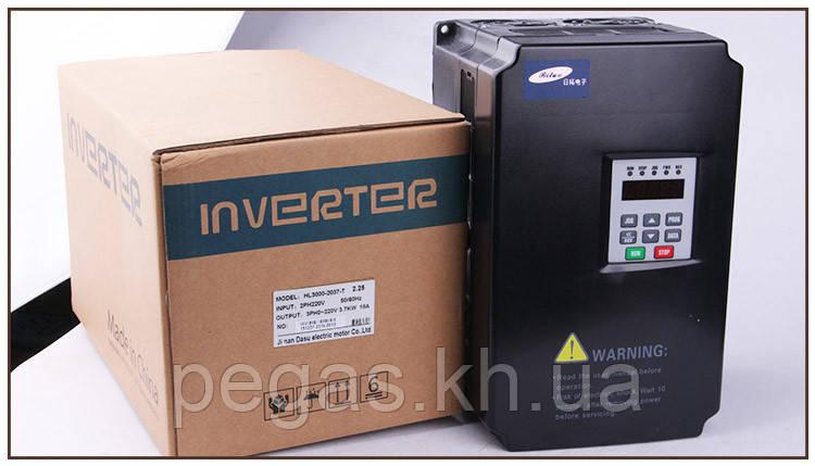 Інвертор 3,7 KW 220-250V. Частотники. Для шпинделя ЧПУ