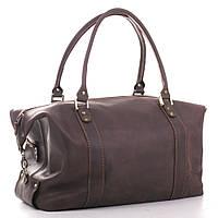 Кожаная дорожная сумка саквояж С1 коричневый