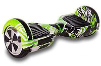 """Гироскутер Smart Balance Wheel Simple 6,5"""" Jungle с Ручкой + Сумка +Спиннер в Подарок! (Гарантия 12 Месяцев)"""