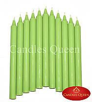 Свеча столовая зеленая 240х20 мм